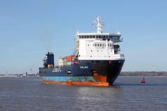 'Palau' Eastham 2nd April 2017 (John Eyres) Tags: heavy lift vessel palau inward for ellesmere port docks 020417 manchestershipcanal mersey