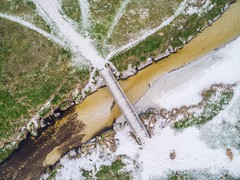 Finist'Air Drone (Sébastien Golhen) Tags: bretagne breizh sébastiengolhen drone dji phantom4pro ciel pont sable dune finistère lampaulploudalmezeau ngc