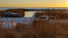 Winter morning (Jaedde & Sis) Tags: sunrise dawn ringkøbing boat land backlit challengefactorywinner thechallengefactory 15challengeswinner