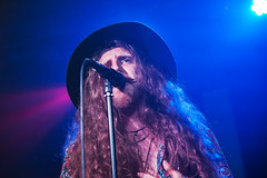 Bad Touch @ O2 Academy 1 (preynolds) Tags: gig concert livemusic dof canon5dmarkii mark2 raw tamron2470mm frontman singer singing stage stagelights hat longhair beard 60s rock alternative music musician noflash birminghamreview