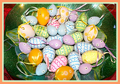Happy Easter Everyone! (bigbrowneyez) Tags: happyeaster buonapasqua eggs eastereggs collection dedication tribute beautiful gorgeous pretty lovely belli bellissimo colourful pastels delightful delightfulbeauty platter glass designs decorative artful fancy charming easterapril162017 happyeastereveryone decorations fabulous striking stunning ribbons pasqua