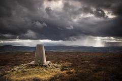 Pressendye (Neillwphoto) Tags: pressendye aberdeenshire trigpoint storm clouds hills scotland