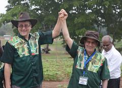 Stakeholders laud Kulakow and team over achievement (IITA Image Library) Tags: basicsproject semiautotrophichydroponicsah cassava manihotesculenta iita