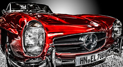 Beautiful old Mercedes (hanspartes) Tags: auto car rot red oldtimer mercedes beautiful