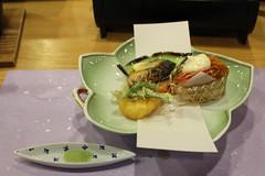 IMG_6116 Miyajima - dinner at Aki Grand hotel (drayy) Tags: japan hiroshima miyajima island oyster oysters torii shrine food 日本 宮島 かき 広島 食事 食べ物 夕食 かいせき