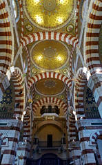 Notre-Dame de la Garde interior 3 (PhillMono) Tags: panas panasonic lumi lumix travel tourist france marseilles notredame de la garde interior church cathedral art architecture symmetry dome moorish gold faith perspective