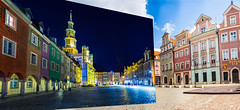 Double (Sakuto) Tags: panoramic town townhall oldsquare city poznan night day landscape building view color