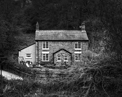 Cottage in the Woods (JEFF CARR IMAGES) Tags: northwestengland woodlandtrails stockport blackandwhite stonebuilt oldbuildings