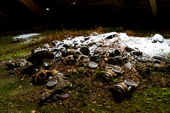 We never left the trenches (keiththrn) Tags: gasmasks soviet union gas masks urbex urbanexploration wwii worldwarii coldwar shadows contrast nature naturewillout