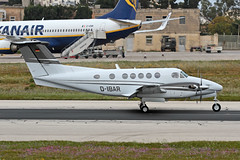 D-IBAR LMML 10-04-2017 (Burmarrad) Tags: airline private aircraft beechcraft b200 super king air registration dibar cn bb1280 lmml 10042017