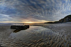 Rising Tide (pauldunn52) Tags: temple bay glamorgan heritage coast wales witches point wet sand clouds reflections sunset
