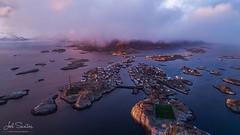 Bird's eye view of #Henningsvær with snow clouds over the #Fiords. #Lofoten, #Norway. © Joel Santos Join one of 2017 Photo Tours — http://ift.tt/2o9KSjx (Joel Santos - Photography) Tags: birds eye view henningsvær with snow clouds over fiords lofoten norway © joel santos join one 2017 photo tours — joelsantosnetphototripstours