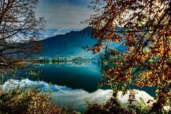 ll Sole dietro (giannipiras555) Tags: lago water autunno riflessi foglie sole landscape panorama nuvole montagna alberi natura colori nikon7100