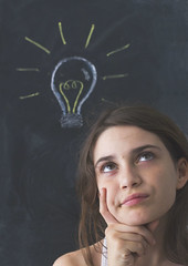 Inspiración (Ines L. Pisano) Tags: idea pizarra board chalkboard thinking think pensando piensa