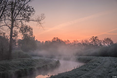 Foggy Morning (Martine Lambrechts) Tags: foggy morning landscape nature waterway sunrise