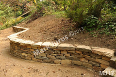 WM Mark Jurus 17, retaining wall, flat cap stones, dry laid stone construction, copyright 2014