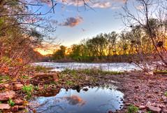 Rocky Water (PixelRange) Tags: sunset sunlight nikon rocks watershed sunrays hdr rockywater perkiomencreek d7000 millgrovefarm nikkor18300m