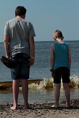 Waiting for the tide (Flemming Pedersen) Tags: beach water strand canon denmark danmark nordsee vand northsee vesterhavet sigma70200mmf28 hennestrand nordsøen canon7d