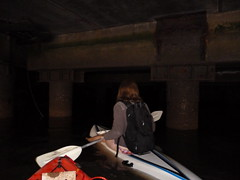 Paddle In (darkday.) Tags: pink urban woman underground concrete kayak paddle australia brisbane urbanexploration backpack qld queensland exploration urbex waveski