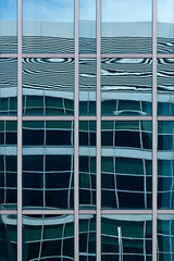 Rflexions urbaines (Thomas Perron - Photographe) Tags: windows urban abstract art colors architecture modern composition reflections print photography mirror graphics thomas contemporary series minimalism curve reflects perron