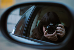 201/365 (MegsPhotosUK) Tags: camera girls portrait woman selfportrait cars me girl car portraits work 50mm mirror nikon women break cam portraiture mirrored jag jaguar 365 breaktime selfie uninspired uninspiring project365 365project d3000