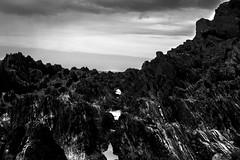 (Darwin Hallam) Tags: life sea sky white black seaweed beach water stone clouds contrast dark high rocks moody mysterious crabs woolacombe rockpools