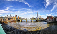 View from Southwark Bridge, London (Anatoleya) Tags: city bridge urban london thames canon river 5d shard hdr southwark photostitch 5d3 anatoleya