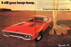 1971 Plymouth Road Runner Advertisement Hot Rod October 1970