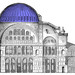 Elevation with Dome in Blue