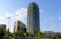 Renaissance - Lewisham, London (SE9 London) Tags: new uk homes england building london tower skyline architecture modern skyscraper canon buildings eos town spring construction view britain crane south centre united great may lewisham kingdom vale cranes londres gb gateway 1855mm build londra development renaissance regeneration redevelopment barratt londyn 600d se13 loampit