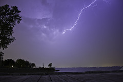 Lightning Over Lake St. Clair 1 (awaketoadream) Tags: lake ontario canada storm st night canon eos spring may thunderstorm lightning clair tecumseh 2014 60d
