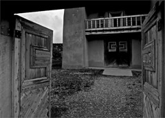 Open Gate (RiverBearPhoto) Tags: road new las southwest church de mexico photo high gate san open jose colonial jackson spanish leon adobe mission taos nm jos gracia trampas riverbear
