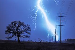 Lightning Near Pataskala, Ohio