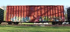 Myth/Hewsizm (quiet-silence) Tags: railroad art train graffiti railcar boxcar graff freight bnsf myth fr8 hews hewsizm bnsf726551