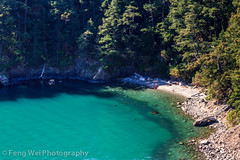 Secluded Beach, Whidbey Island, Washington (Feng Wei Photography) Tags: ocean travel sea color tourism beach beautiful beauty horizontal forest relax landscape scenery colorful view outdoor relaxing scenic peaceful serenity whidbeyisland stunning vista pugetsound serene deceptionpass breathtaking whidbey secluded
