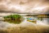 Black Morning (Nejdet Duzen) Tags: trip travel lake reflection turkey boat cloudy türkiye sandal göl yansıma turkei seyahat manisa bulutlu gölmarmara