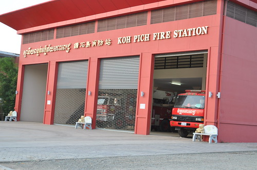 Koh Pich/ Diamond Island Fire Station in PP