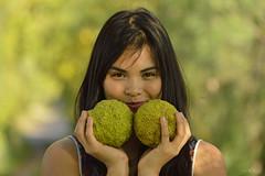 Sofia (artin Riedel 2013) Tags: portrait verde argentina frutas girl hojas book arboles chica camino sofia bokeh buenos aires retrato cara amarillo campo otoo tranquera sonrisa plano solitario rostro frutos simpatica