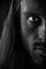In Sight (Joeywolf42) Tags: portrait bw face look self eyes gesicht sw auge selbstportrait blick selvportrait