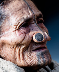 apatani tatoo (rob of rochdale) Tags: tattoo profile tribal tribe arunachalpradesh ziro noseplugs robofrochdale apatai