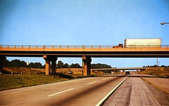 Northern Indiana Toll Road (Edge and corner wear) Tags: road vintage pc highway postcard chrome 1950s toll interstate turnpike superhighway