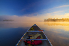 Straight On (Matt Champlin) Tags: morning usa mist ny june fog sunrise canon adirondacks adk longlake 2014 forkedlake forkedlakesunrise