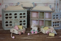(*Joyful Girl  Gypsy Heart *) Tags: rabbit bunny toys miniature wooden blocks chic 112 shabby dollhouses joyfulgirlgypsyheart