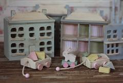 (*Joyful Girl ♥ Gypsy Heart *) Tags: rabbit bunny toys miniature wooden blocks chic 112 shabby dollhouses joyfulgirlgypsyheart