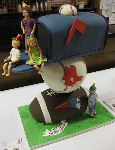 Mailbox Sports Family Cake