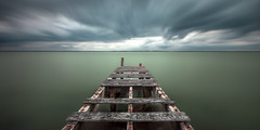 Yarmouth (richard carter...) Tags: longexposure seascape canon jetty stormy isleofwight yarmouth 1635 eos5dmk2