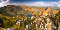 Snowdon Horseshoe Panorama (JamboEastbourne) Tags: park mountains wales mount national snowdon horseshoe snowdonia