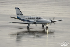 N797RW (vueliing) Tags: barcelona aircraft wells 441 raining fargo cessna spotting conquest n797rw