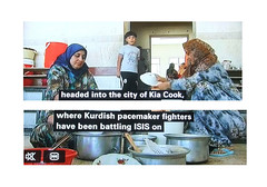 2014_06_160008 (t4) - Kurdish pacemaker fighters in Kia Cook (Gwydion M. Williams) Tags: uk greatbritain england funny britain islam iraq humor humour syria isis iraqwar subtitles captions subtitle misprint alqaeda islamists misprints syriancivilwar