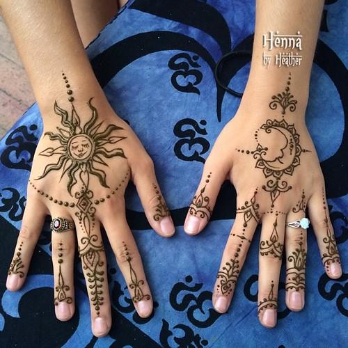 Henna Celestial Sun Moon Iloveyoutothemoonandback Inspired By